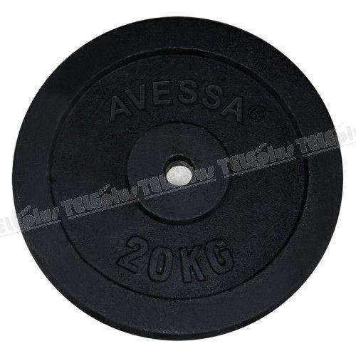 Avessa Siyah Döküm Plaka 20 Kg - Siyah döküm plaka ağırlığı 20 kg. 'dır.   Vücut geliştirme, fitnes veya halter sporlarında kullanabileceğiniz ağırlıklardır.  - Price : TL154.00. Buy now at http://www.teleplus.com.tr/index.php/avessa-siyah-dokum-plaka-20-kg.html