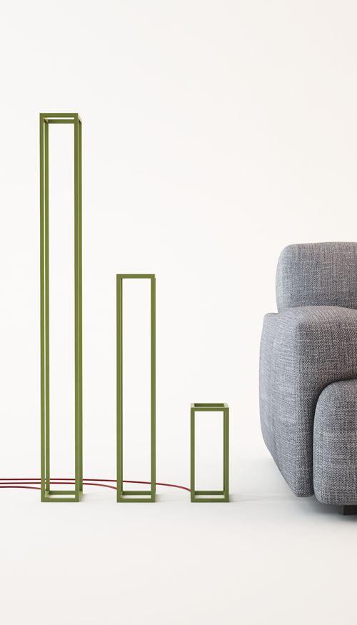 Filodesign filoCUBO -  25/60/130 cm altezza/height 12x12 cm base 300 lumen LED