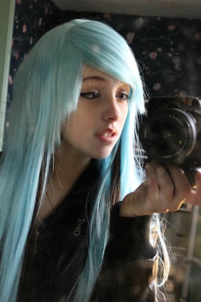 Pin by Ashleigh Seto on Colored hair cx  Scene hair Emo