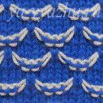 Красивые двухцветные (и один трех-) узоры со снятыми петлями