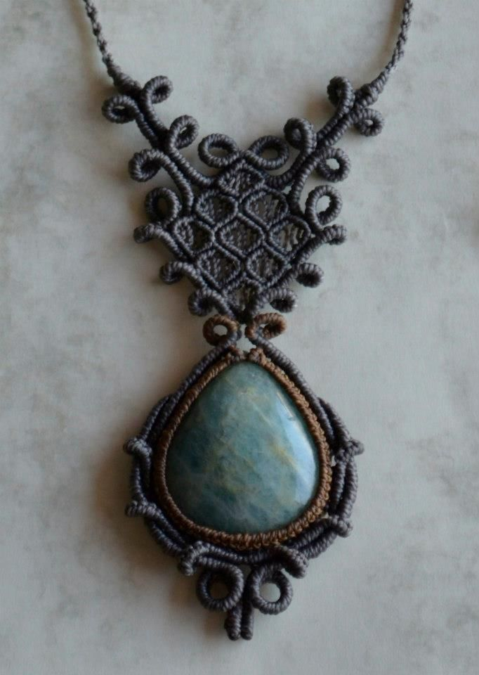 Beautiful macrame necklace