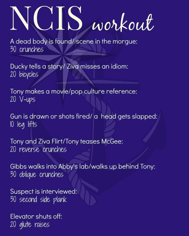 #don't sit through a TV episode #NCIS #TV Workout