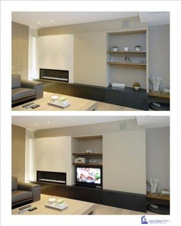 Idée pour cacher la TV éteinte.