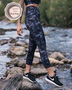 730a28e08e318 Black Camo Pocket Light N Tight leggings   Zyia in 2019   Pocket ...