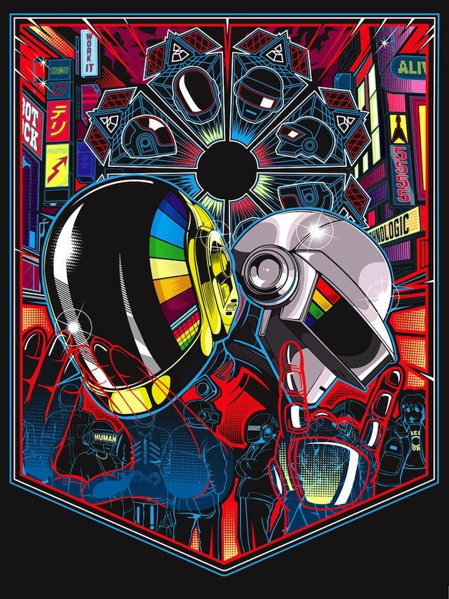 Daft Punk fans rejoice! On May 18, San Franciscos Gauntlet Gallery is opening an exciting new art show inspired by the electronic music duo. It may be hard to believe but its been over eight years since Daft Punks last album, Humans After All. On May 21, Daft Punk, the group known for their incredibly entertaining live performances, will release their fourth studio album, called Random Access Memories, which will consist of 13 new recordings. (via MyModernMet)