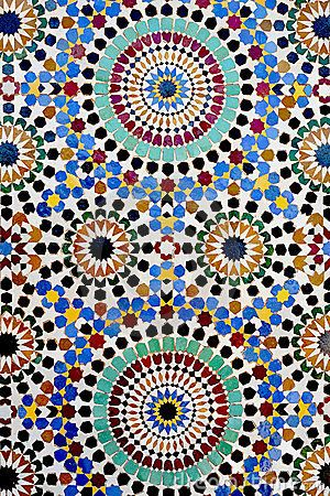 Traditional Islamic mosaic by Kemaltaner, via Dreamstime