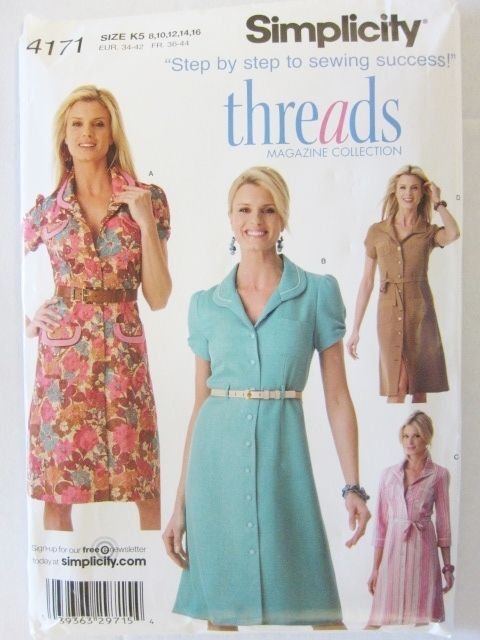 Simplicity 4171 Dress Waitress Retro Costume Theater Threads Magazine Sizes 8-16 #Simplicity #ClassicRetro