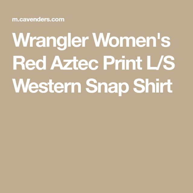 Wrangler Women's Red Aztec Print L/S Western Snap Shirt