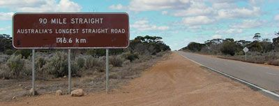 Get comfortable, put the cruise control on and try not to fall asleep on the Nullarbor Plain Drive, from SA to WA.