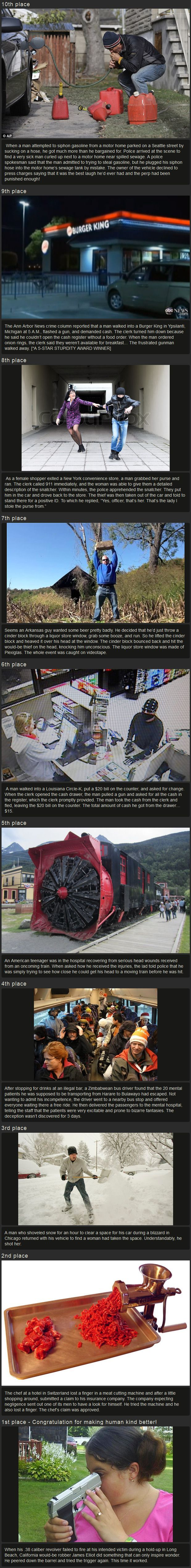Darwin Awards 2013 - The biggest idiots of the year
