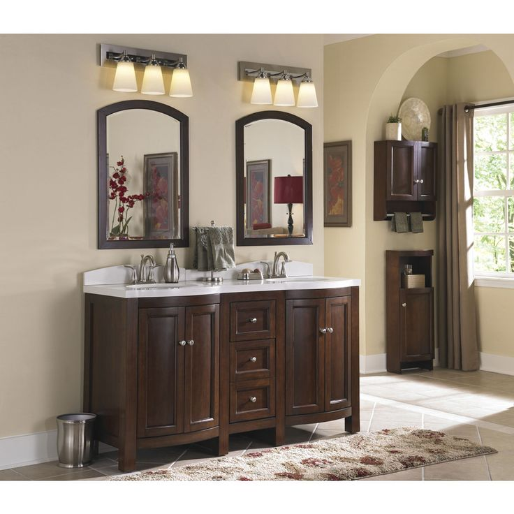 Shop allen + roth Moravia 60-in x 20-in Sable Undermount ...