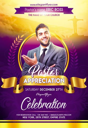 Free Pastor Appreciation Flyer PSD Template