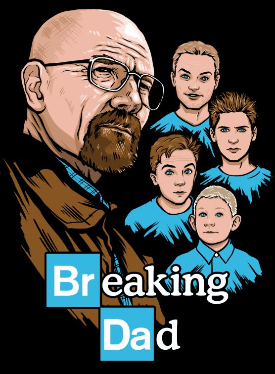 Breaking Dad, A 'Breaking Bad' Meets 'Malcolm in the Middle' T-Shirt
