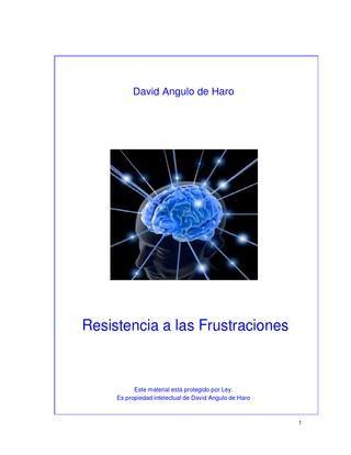 David Angulo de Haro  -  Resistencia a las Frustraciones
