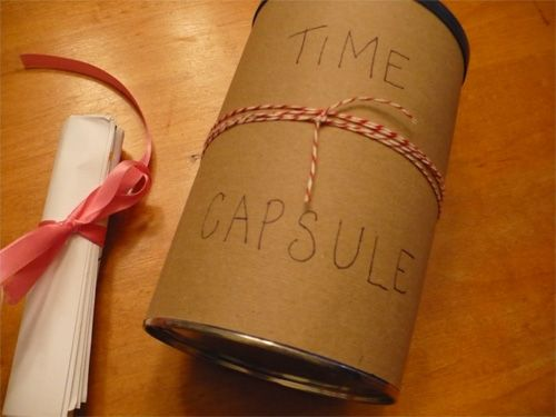 First day of school ideas: time capsule. Then open at the end of the school year. How fun!