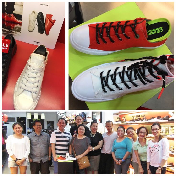 Bloggers at Converse Store, 2nd floor Robinson's Place Bacolod checking out their new offering for the rainy season - stylish, classy water repellant sneakers #shopping #NegrosBloggers #BacolodBloggers #ConversePHCounterClimate