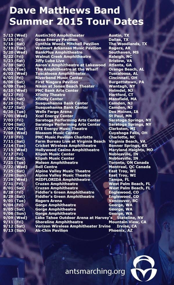 dmb summer tour dates
