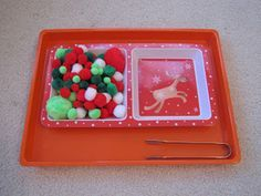 H is for Homeschooling: Christmas Tot Trays