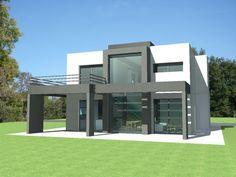 Plan Maison contemporaine Pyrénées-Orientales (66). Plan Villa contemporaine toit terrasse à étage de 161 m2 - Pierre Glory