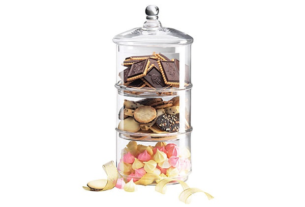 Great Clear Large 3 Tiered Canister  https://www.onekingslane.com/product/16183/823208?aname=sales_event=product_link