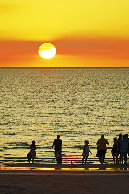 """handa: """"Sunset at Mindil Beach, a photo from Northern Territory, West…"""