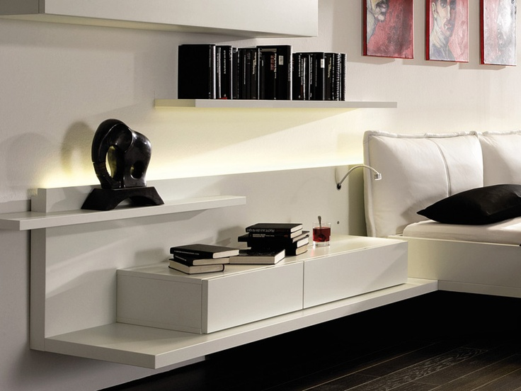 1000 ideas about wall mounted bedside table on pinterest. Black Bedroom Furniture Sets. Home Design Ideas