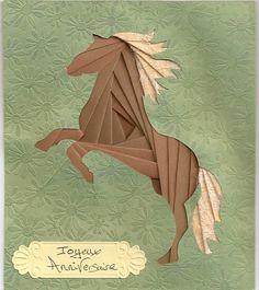 Cheval iris folding - Les Mails Art de Mlor