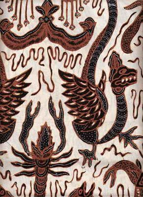 Batik Fabric: Yogyakarta Batik Ancient. with a white background color. Indonesian batik