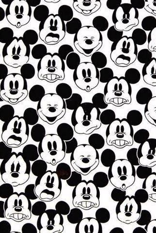 mickey mouse, pattern, black, white, background, wallpaper,