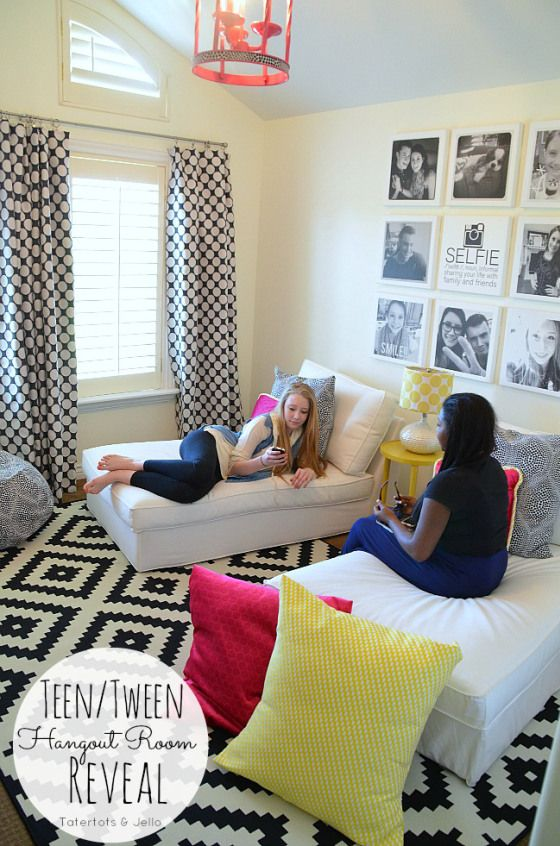 teen hangout room reveal at tatertots and jello