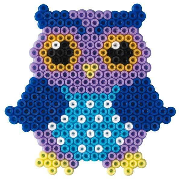 Hama owl. Part of a owl mobile.  Google Bilder-resultat for http://onkelcarsten.dk/533-1303-thickbox/ugler-hama-mini-perler.jpg