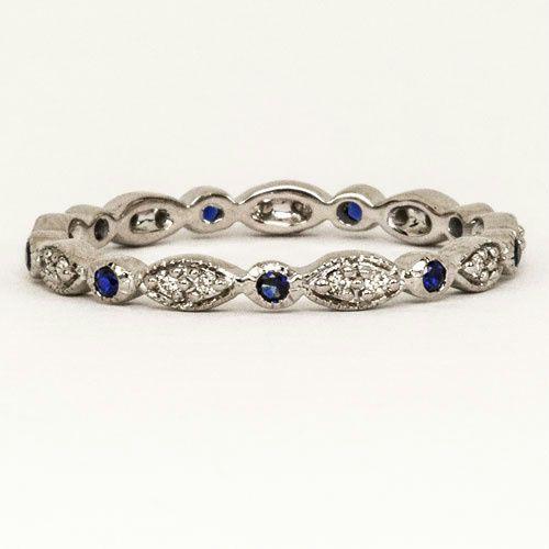 Imitation Diamond Eternity Rings