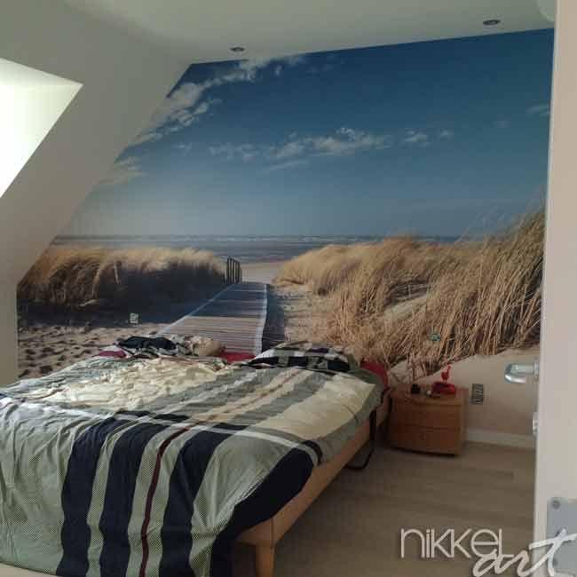 """Fotobehang Strand - Nordsee Strand auf Langeoog. We hebben er een beetje langer op moeten wachten dan verwacht maar het resultaat Is echt TOP! We slapen nu alle nachten in een """"beachhouse"""" met zicht op zee. Bedankt!"""