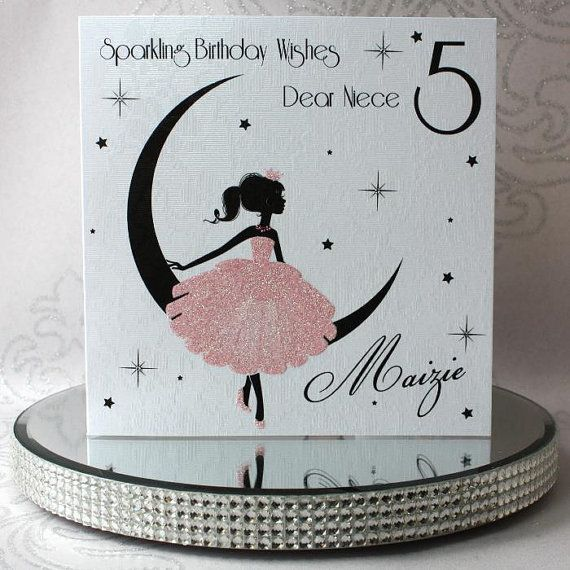 Luxury Handmade Personalised Birthday Card by ChiChiCards on Etsy