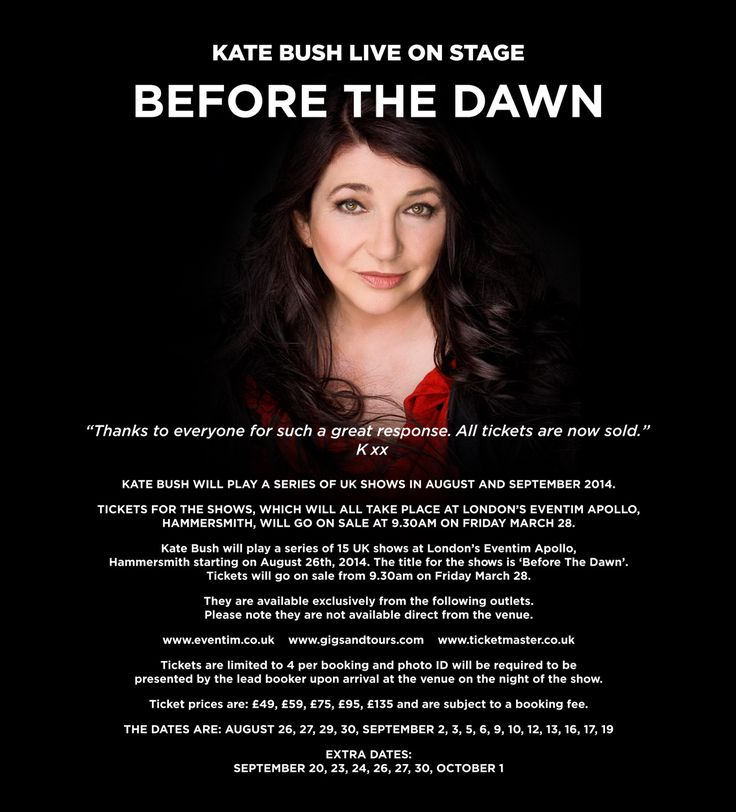 Kate Bush - Before the Dawn. I didn't get to the concert so am hoping for news of a DVD.