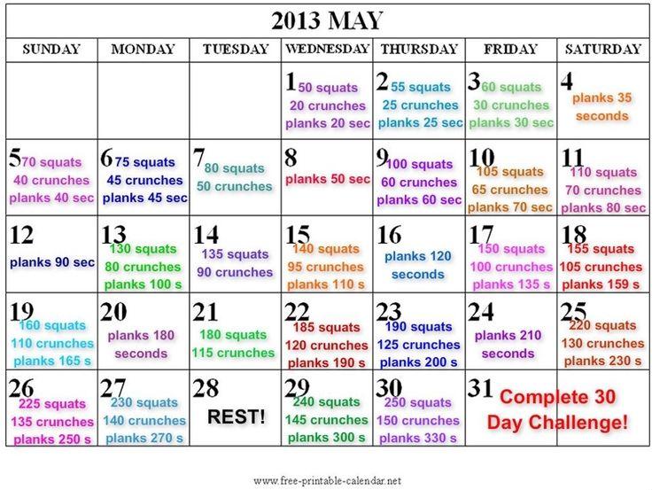 30 day crunch challenge chart pic | 30 Day Challenge - September 2011 Birth Club - BabyCenter