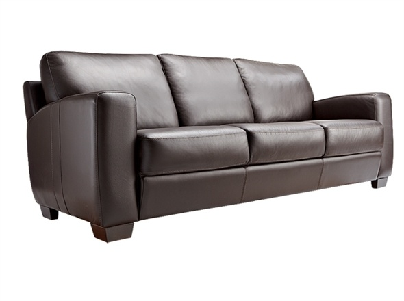 bay leather republic 3 seater lounge metro on sale for 1399