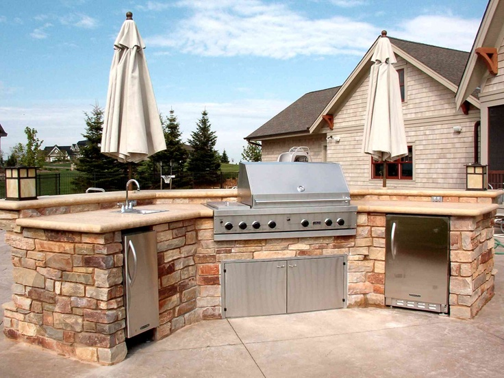 outdoor grill area - just missing the countertop cooler