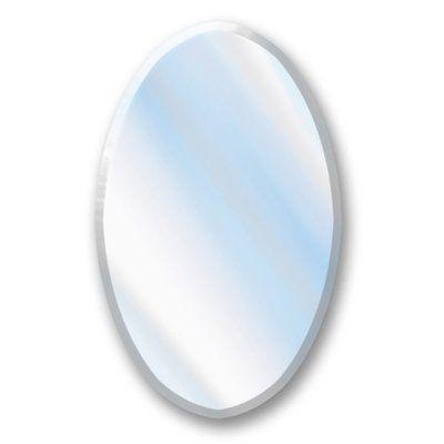 Photo On American Pride E Beveled Edge Oval Bathroom Mirror Frameless