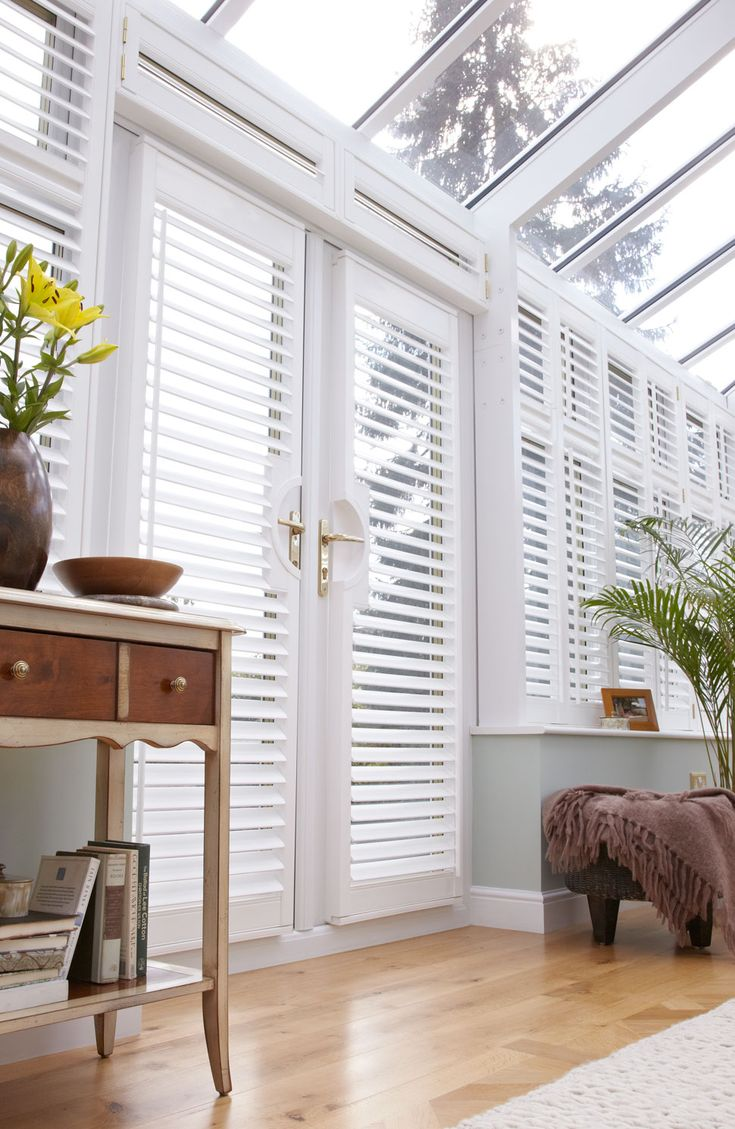 Modern conservatory design ideas - Lifetime Conservatory Shutters Thomas Sanderson