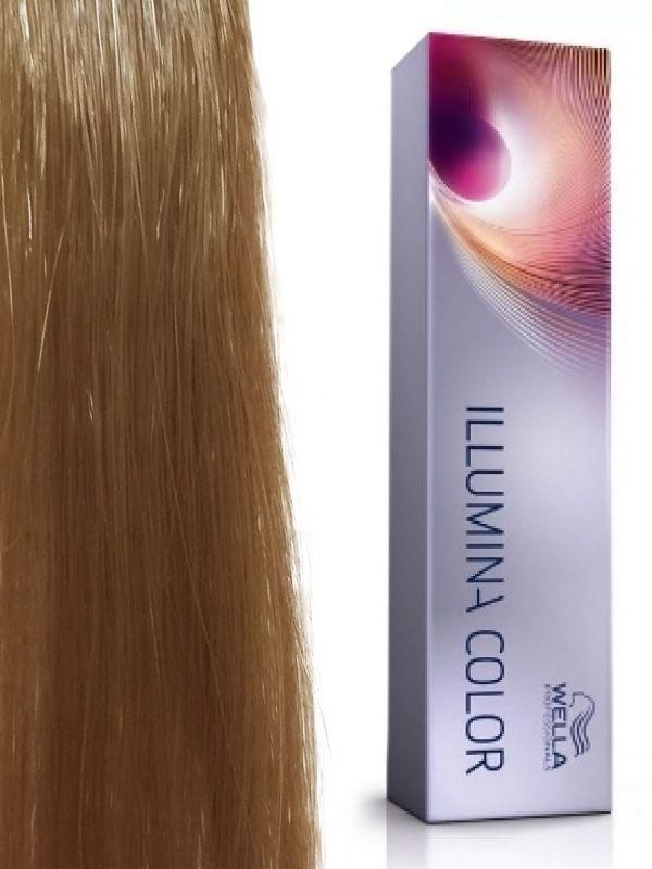 Wella Illumina Color # 8/13 Светлый блонд пепельно-золотистый Стойкая краска для волос 60 мл.