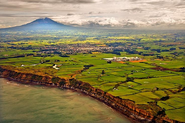 Hawera, and the massive dairy plant - New Zealand