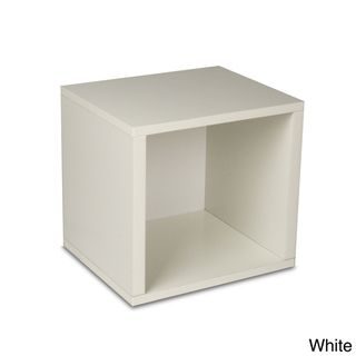 @Overstock.com - Stackable Paperboard Storage Cube - This white modular storage cube is a simply designed storage solution and eco friendly furniture. This box is an excellent home organizer for modern living.  http://www.overstock.com/Main-Street-Revolution/Stackable-Paperboard-Storage-Cube/8060549/product.html?CID=214117 $26.99