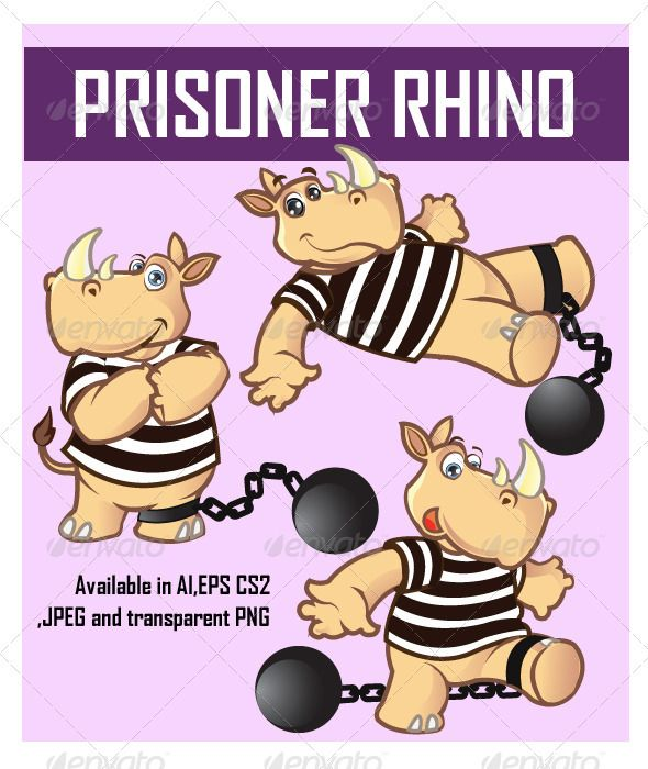Prisoner Rhino Cartoon  #GraphicRiver         Funny sorry looking Prisoner Rhino Cartoon available in AI, EPS , JPEG and transparent PNG . Go get it !     Created: 12July12 GraphicsFilesIncluded: TransparentPNG #JPGImage #VectorEPS #AIIllustrator Layered: Yes MinimumAdobeCSVersion: CS2 Tags: animal #ball #brand #chain #character #convict #creature #forest #horn #illustration #jail #jungle #mascot #prison #prisoner #rhino #strippedshirt #vector #water #wild