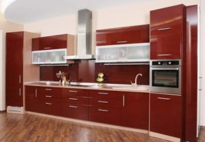 High Gloss Red Kitchen Cabinet Doors