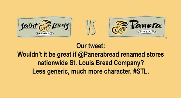 It doesn't matter if a sign says Panera, it's a St. Louis Bread Co.   And you will fight people over that fact