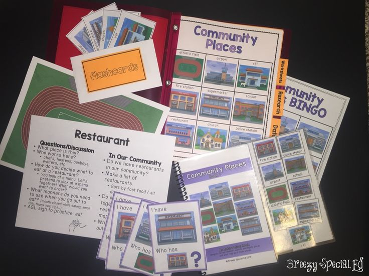 Looking for ways to teach students about places in the their community? These community resources are perfect for special education or early education classes.