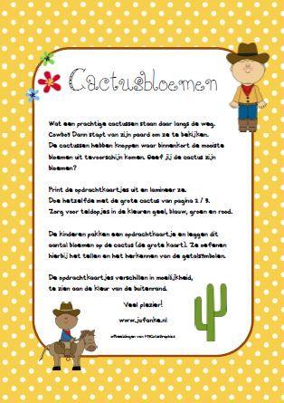 cactusbloemen, tellen en getalsymbolen jufanke.nl
