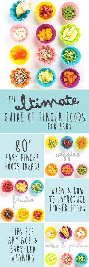 This Ultimate Guide of Finger Foods for Baby has over 80 tasty finger food ideas that your baby can enjoy for their very first bite of solid food. The guide will also go into detail about the basics of finger foods - what to serve, how to serve it and when to start serving it. This guide is also great if you are doing the Baby-Led Weaning approach. #FoodForBaby