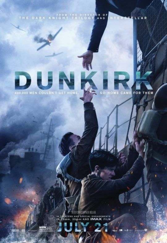 Dunkirk. A great film showcasing the horrors of war. The bravery of those who set sail in the little boats was remarkable.